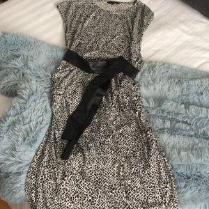Knee-length comfortable Leopard print dress